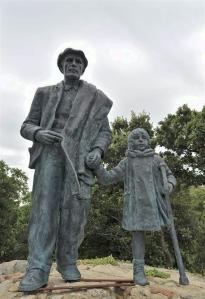 El monumento al exilio en La Vajol