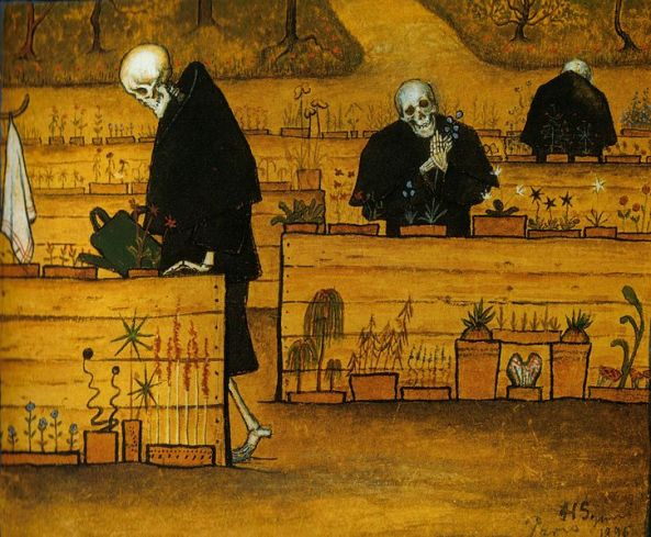 Hugo Simberg - el jardín de la muerte (1896)