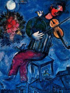 Chagall - El violinista azul (1947)