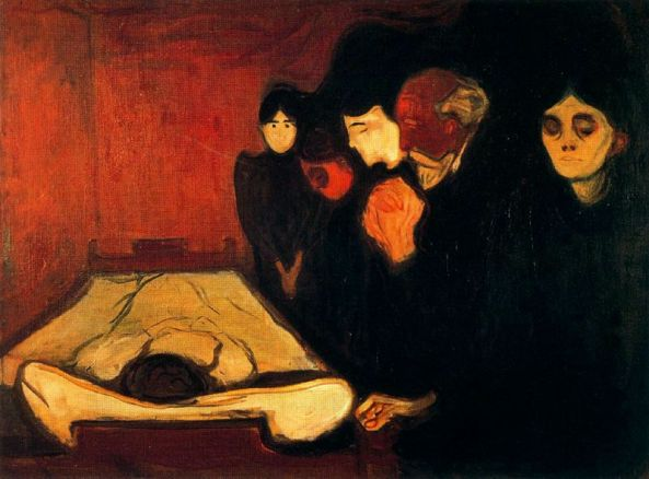 Munch - junto al lecho de la muerte (1895)