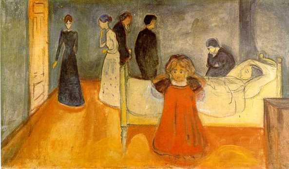 Munch - madre muerta con niña (1897)