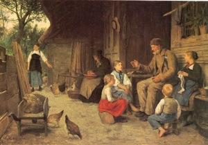 Albert Anker - El abuelo cuenta una historia