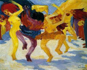 Nolde - Danza alrededor del becerro de oro (1910)