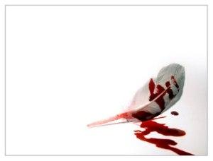 pluma y sangre