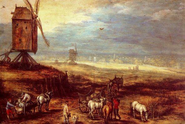 Brueghel - molino de viento (1607)