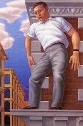 George Tooker - cornisa (1949)