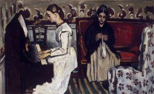 Cezanne - Obertura de Tannhauser (muchacha al piano) (1869)