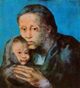 Picasso - madre con niño enfermo (1903) Desamparados