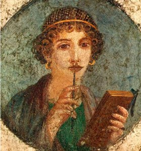 Retrato de Safo poetisa griega