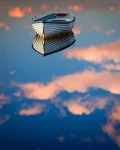 barco en nubes