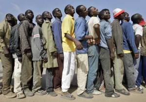 inmigrantes ante la valla