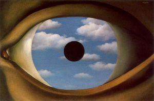 Rene Magritte - el espejo falso (1928)