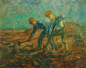 Van Gogh - dos labriegos (1890)