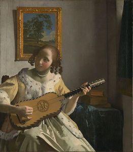 Vermeer - mujer tocando la guitarra (1672)