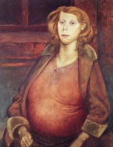 Otto Dix - mujer embarazada (1930)