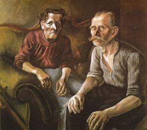 Otto Dix - retrato de los padres (1921)