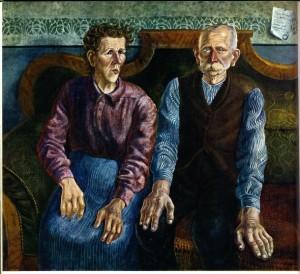 Otto Dix - retrato de los padres (1924)