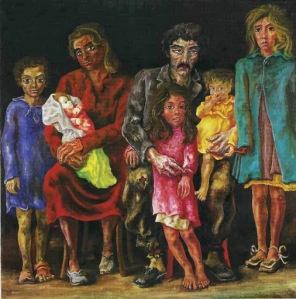 Antonio Berni -  La familia del peón