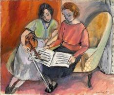 Matisse -La lección de música (Dos nujeres sentadas en un diván) - 1921