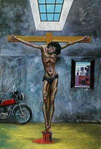 Antonio Berni - Cristo en el garaje