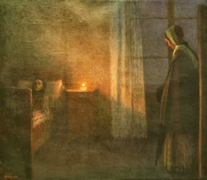Jakub Schikaneder - By the Girl's Bed