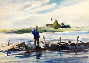 Andrew Wyeth - Man And Dory (1937)
