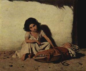 August von Pettenkofen - Zigeunerkinder
