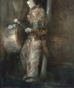 Everett Shinn - Clown with Drum (1940)