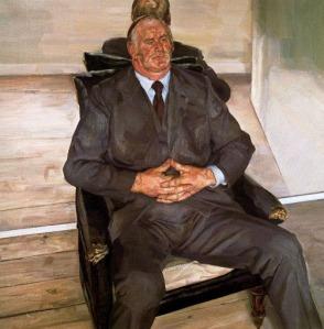 Lucien Freud - The Big Man (1977)
