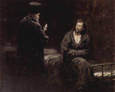 Ilia Repin - Negativa a confesarse (1885)