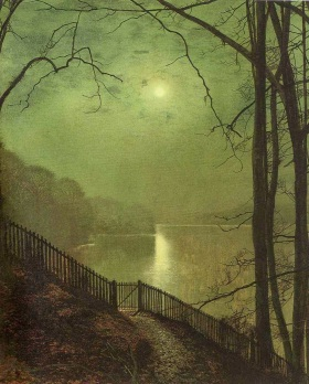 John Atkinson Grimshaw - Moonlight on the Lake