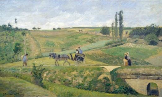 Pissarro - el camino de Marly (1870)