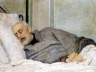 Silvestro Lega - Muerte de Mazzini Morente (1873)x