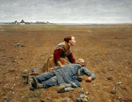 Hans Andersenm Brendekilde - Campesino agotado