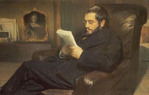 Leon Bakstt - Portrait of the Artist Alexander Benois  (1898)
