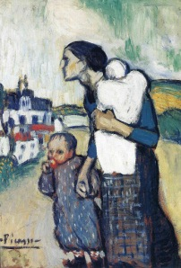 Picasso - The mother leading two children (1901)