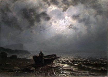 Knud Baade - Moonlight on the Norwegian coast (1876)