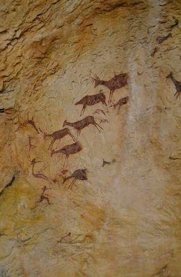 Anónimo - Escena de_caza de la cueva de los caballos