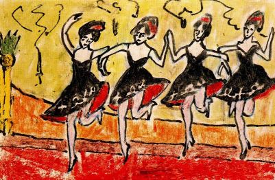 Erich Heckel - Four Dancers in Black
