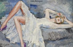 Kees Van Dongen - Les escarpins mauves  (1921)