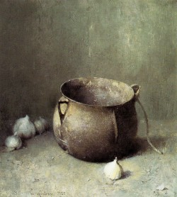 Emil Carlsen - Still Life Iron Kettle and Onions (1925)