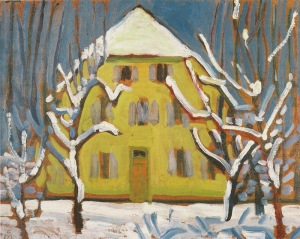 Gabriele Münter -  Murnau, Gelbe Haus (1909)