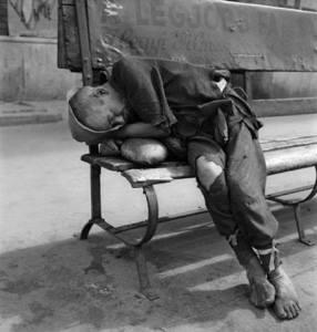 vagabundo en banco
