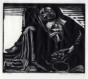 Käthe Kollwitz - Death embraces woman