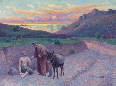 Maximilien Luce - Le bon samaritain (1896)
