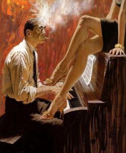 Pianista jazz y mujer