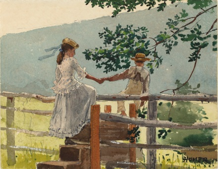 Winslow Homer -On the Stile (1878)