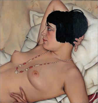 Christian Schad - Halbakt (Semidesnudo) (1929)