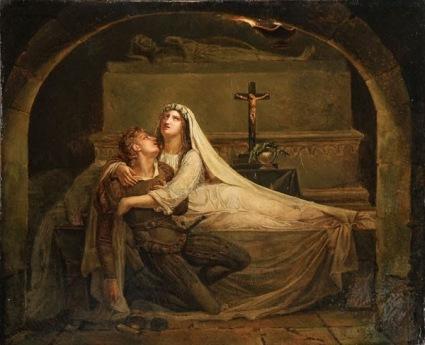 Diebolt - la muerte de Romeo y Julieta (1825)
