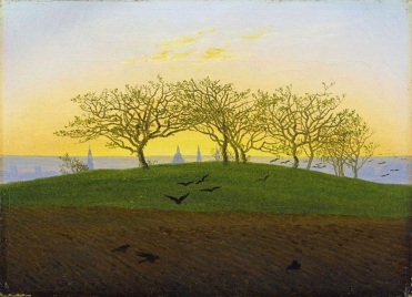 Friedrich - Hill and Ploughed Field near Dresden (1824)